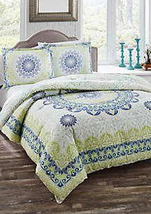Gemology 3-Piece Reversible Comforter Set