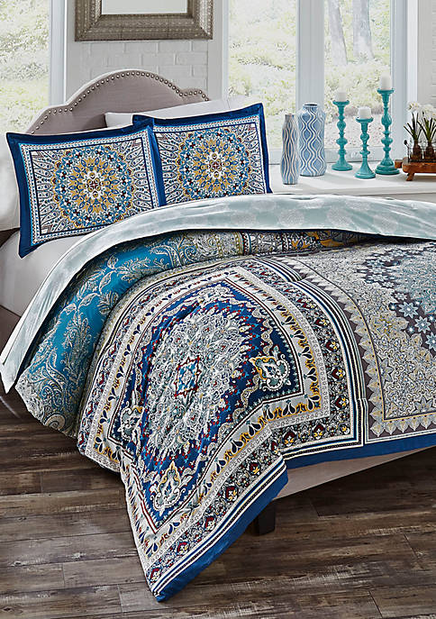 Boho Boutique Surya 3-Piece Reversible Comforter Set