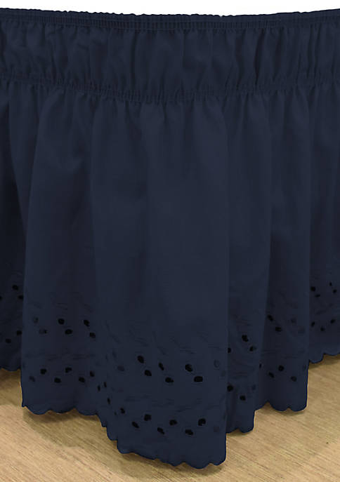 Easy Fit Wrap Around Eyelet Ruffled Bed Skirt