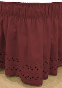 Wrap Around Eyelet Ruffled Bed Skirt