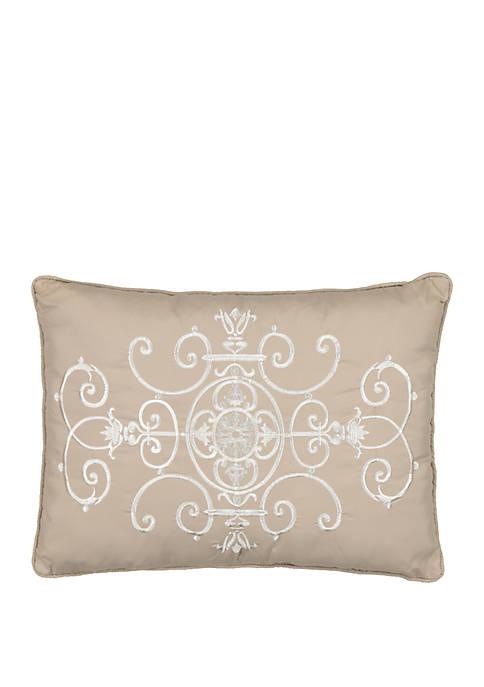 Vue Signature Bensonhurst Embroidered Decorative Pillow
