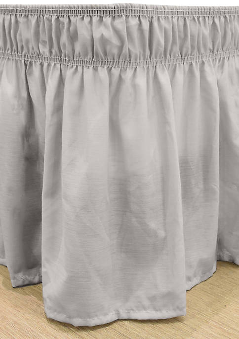 Easy Fit Wrap Around Solid Ruffled Bed, Wrap Around Bed Skirt Queen Size