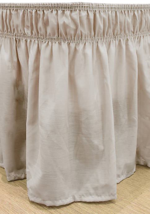 Easy Fit Wrap Around Solid Ruffled Bed Skirt