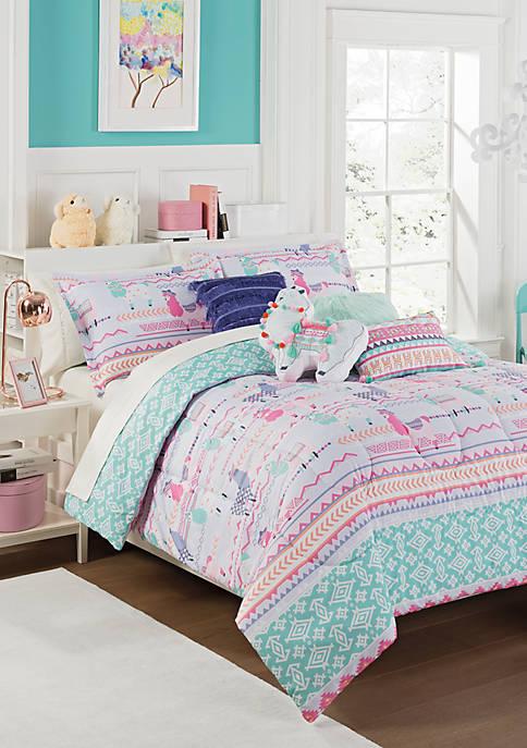 La La Llama Reversible Comforter Set