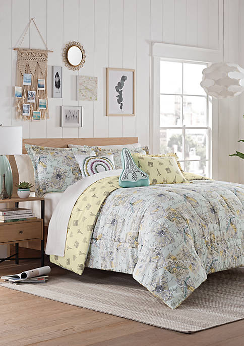 Mapped Out Reversible Comforter Set