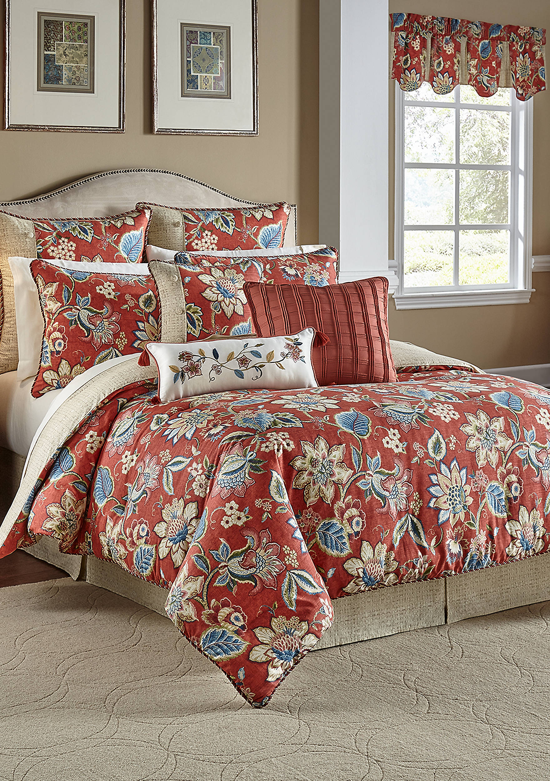 lyon overstock free bedding camuto set vince brushstroke two tone today comforter shipping bath product