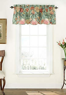Sonnet Sublime Scalloped Floral Valance 18-in. x 52-in.