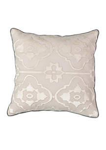 La Salle Applique Decorative Pillow