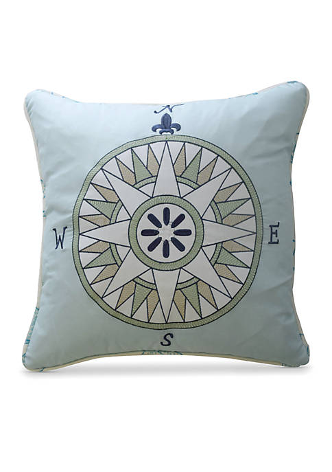 Buon Viaggio Embroidered Decorative Pillow