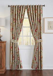 Fresco Flourish Window Drapery Pair