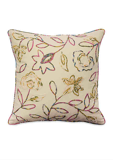 Waverly key of life woven decorative pillow