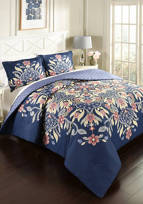 Marble Hill Floral Fantasy 3-Piece Comforter Set