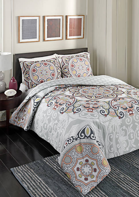 Marble Hill Regal Rosette 3-Piece Comforter Set