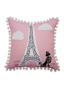 Waverly Kids Waverly Kids Ooh La La Embroidered Decorative Accessory Pillow