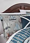 Set Sail Applique Decorative Accessory Pillow
