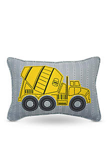 Under Construction Oblong Embroidered Accessory Pillow