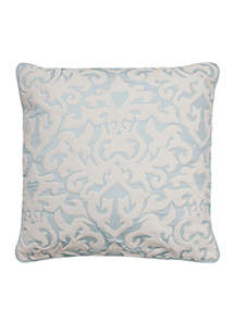 Arlee Velvet Applique and Embroidered Pillow