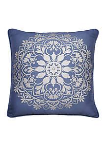 Indochine Silver Foil Decorative Pillow