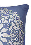Indochine Silver Foil Decorative Pillow