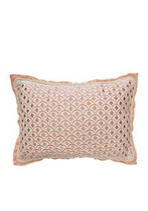 Fleuretta Embroidered Scallop Decorative Pillow