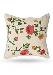Juliet Embroidered Square Decorative Pillow