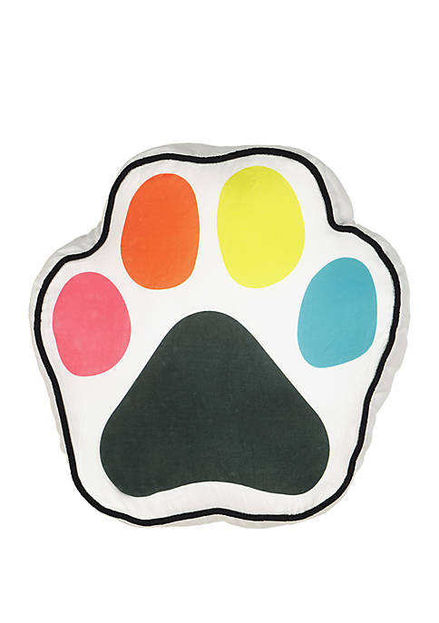 Adogable Paw Print Novelty Decorative Pillow
