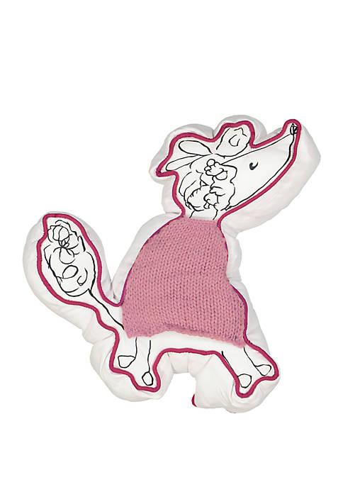Adogable Poodle Novelty Decorative Pillow