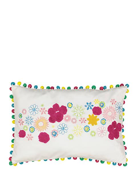 Copacabana Embroidered Pom Pom Decorative Pillow