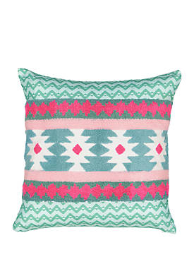 Always on Point Aztec Embroidered Decorative Pillow