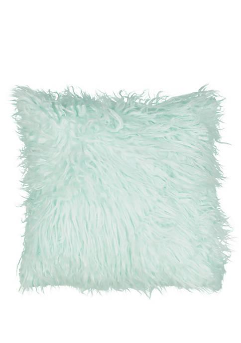 La La Llama Faux Fur Decorative Pillow