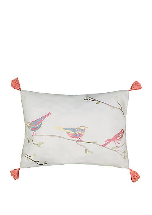 Waverly® Charleston Chirp Embroidered Throw Pillow
