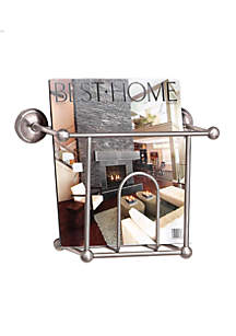 Wall Mounted Magazine Rack In Satin Nickel