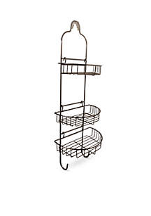 Adjustable Shower Caddy with Oval Baskets