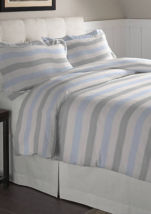 Pointehaven Superior Weight Cotton Flannel Duvet Set