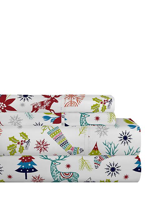 Pointehaven Celeste Home Cotton Flannel Sheet Set