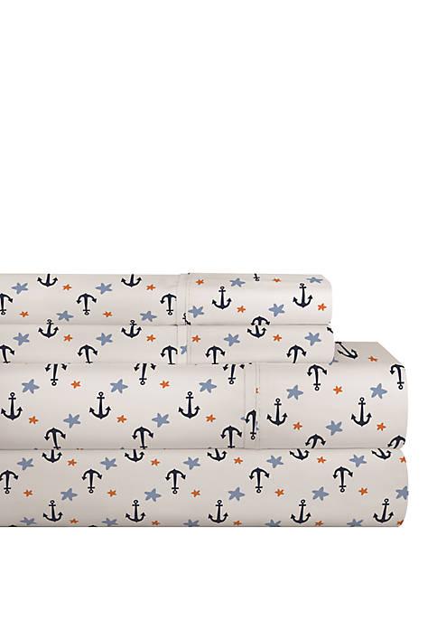 Pointehaven 200 TC Percale Cotton Sheet Set