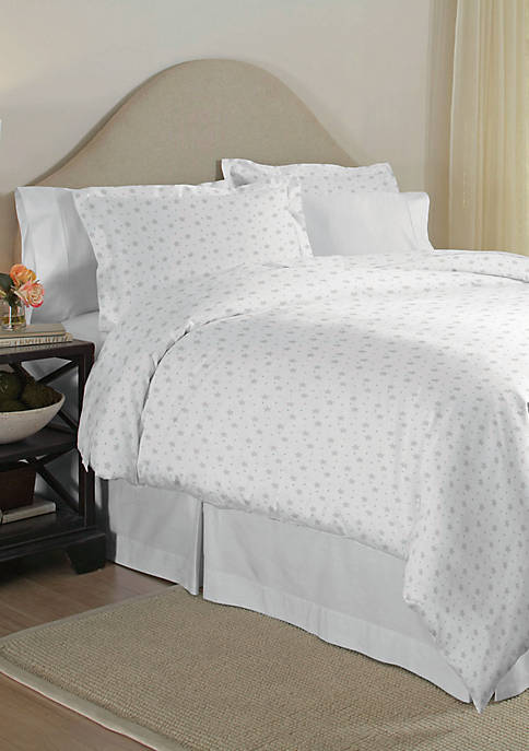 Pointehaven 200-Thread Count Percale Cotton Duvet Set
