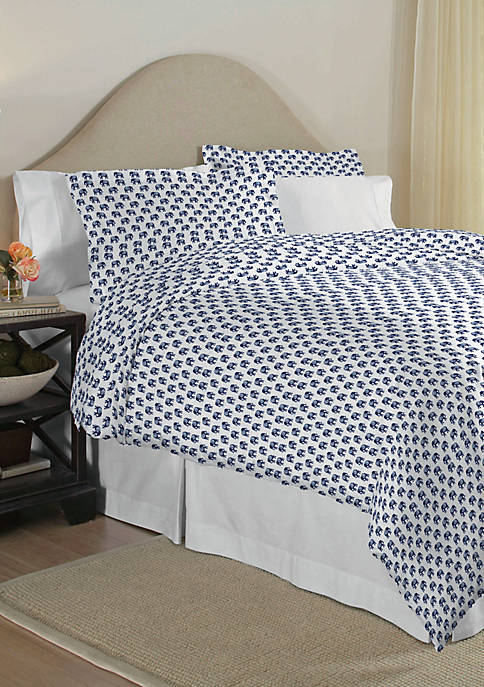 Pointehaven 200 Thread Count Percale Cotton Duvet Set
