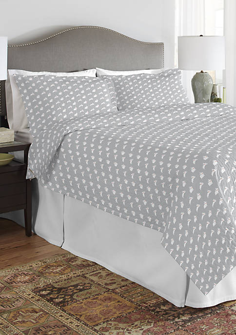 200 Thread Count Percale Cotton Quilt Set