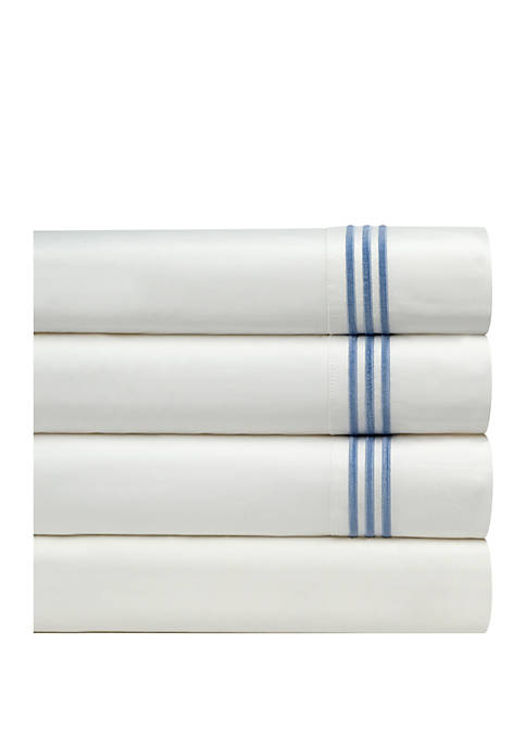 Pointehaven 300 Thread Count Embroidered Sheet Set