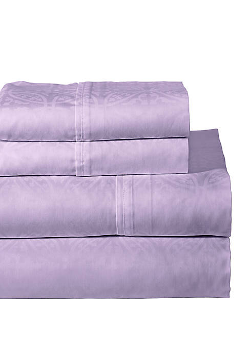 Pointehaven 300 Thread Count Printed Sheet Set