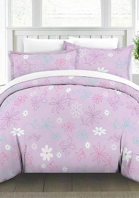 Lullaby Bedding Butterfly Garden Duvet Set