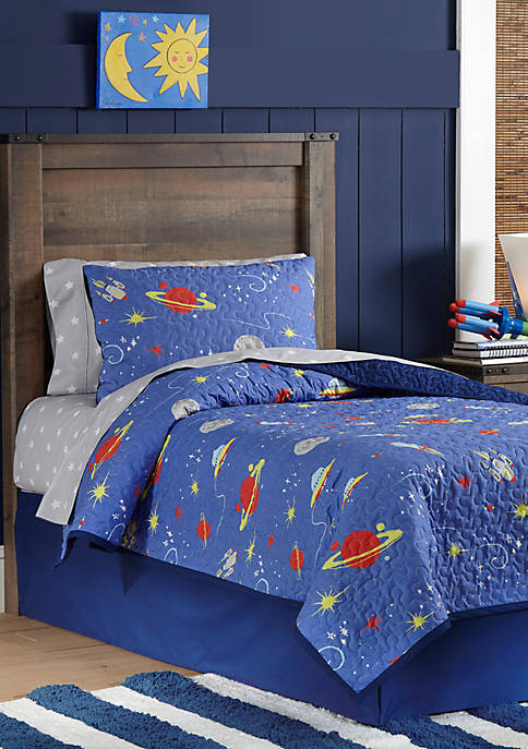 Pointehaven Lullaby Bedding Space Quilt Set