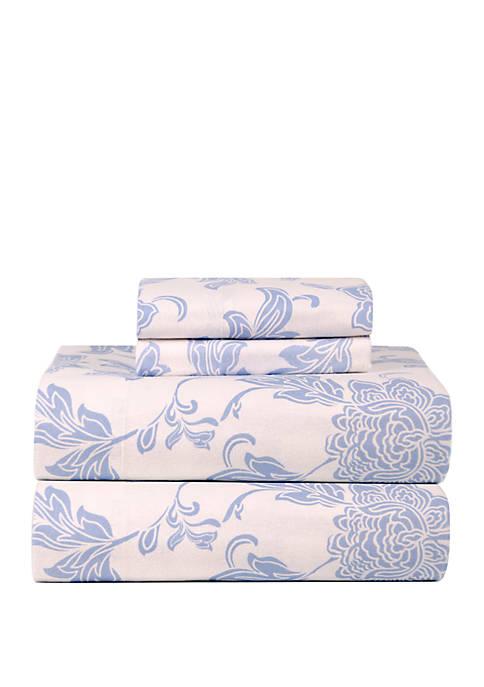 Pointehaven Celeste Home Heavy Weight Cotton Flannel Sheet