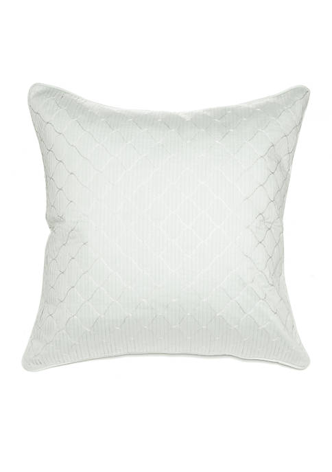 Biltmore® Primavera Pleated Embroidered Ogee Decorative Pillow