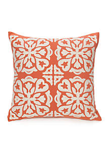 Terracotta Embroidered Decorative Pillow