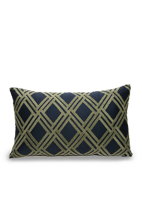 Biltmore® Cornelia Oblong Lattice Embroidered Decorative Pillow