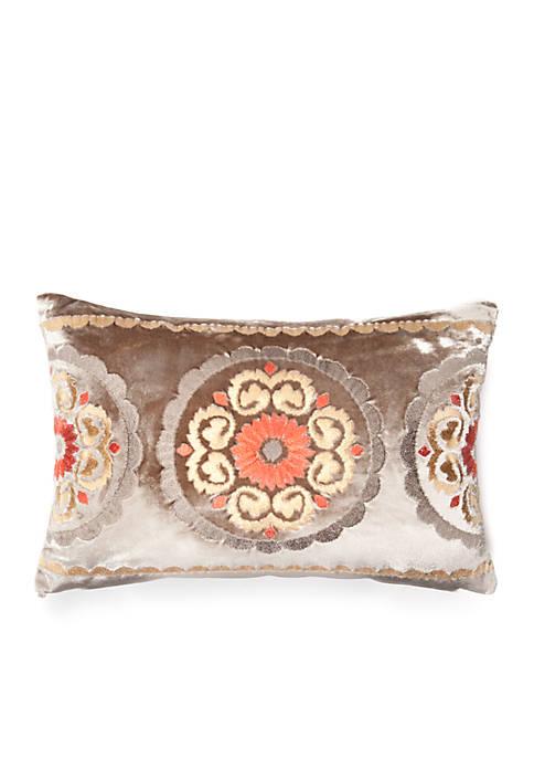 Portico Oblong Velvet Decorative Pillow 12-in. x 18-in.