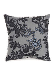 Contessa Bead Embroidered Decorative Pillow