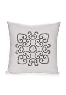 Stuyvesant Embroidered Decorative Pillow